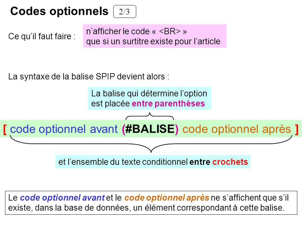 [ code optionnel avant (#BALISE) code optionnel après ]